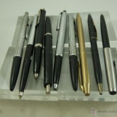 Bolígrafos antiguos: LOTE DE 9 BOLIGRAFOS INOCCROM, SHEAFFER,BOLIN.... Lote 50534948