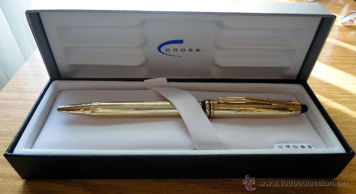 Bolígrafos antiguos: Bolígrafo Cross Townsend - Laminado en oro de 10 kts - Foto 2 - 51170730