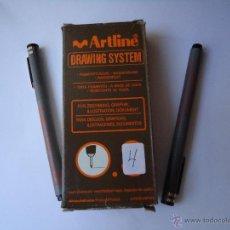 Bolígrafos antiguos: ROTULADOR MARCA ARTLINE DRAWING SYSTEM 0,4 PUNTA FINA.TINTA PIGMENTO A BASE DE AGUA, LOTE DE 12... Lote 51348718