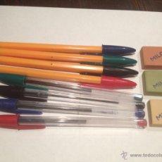 Bolígrafos antiguos: LOTE DE 8 BOLIGRAFOS BIC AÑOS 70 SIN USO. Lote 140330546