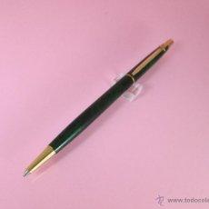Bolígrafos antiguos: BOLÍGRAFO-SUIZO-CARAN D´ACHE MADISON-LACADO JASPEADO VERDE/NEGRO Y ORO-DESCATALOGADO-PERFECTO ESTAD0. Lote 26243743