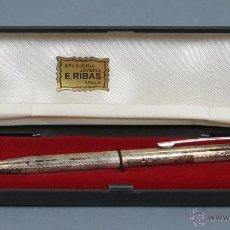 Bolígrafos antiguos: BOLIGRAFO DE PLATA USUS. 925. GERMANY. CON ESTUCHE. Lote 53846376