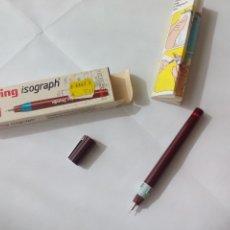 Bolígrafos antiguos: ESTILÓGRAFO ROTRING ISOGRAPH 0,60, SIN USO, EN SU CAJA ORIGINAL Y CON INSTRUCCIONES . Lote 144659973
