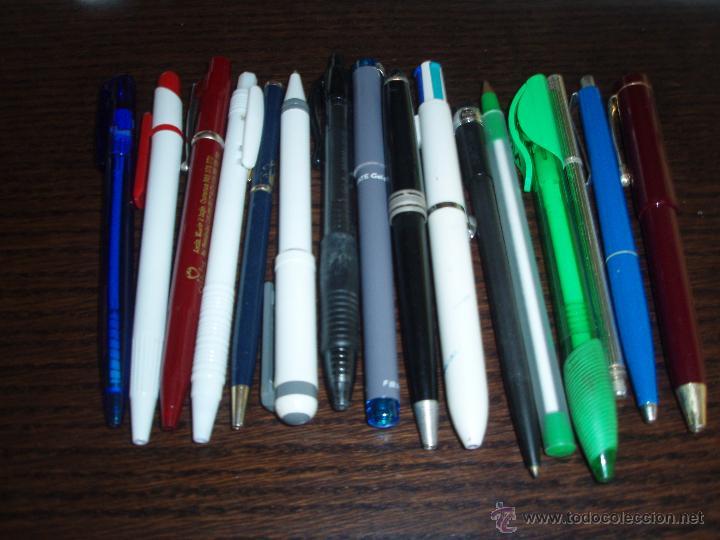 4706A- 16 BOLIGRAFOS PUBLICITARIOS VARIOS (Plumas Estilográficas, Bolígrafos y Plumillas - Bolígrafos)