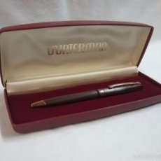 Bolígrafos antiguos: MODELO ANTIGUO DE BOLÍGRAFO WATERMAN EN SU ESTUCHE ORIGINAL MADE IN FRANCE. Lote 57438876