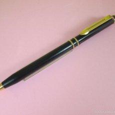 Bolígrafos antiguos: NN7514-BOLÍGRAFO-FRANCE-WATERMAN-RESINA NEGRA+ORO-BUEN ESTADO-FUNCIONANDO-.. Lote 41533213