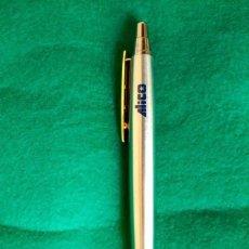 Bolígrafos antiguos: BOLIGRAFO INOXCROM SPAIN PUBLICIDAD DE SEGUROS ALICO. Lote 72201459