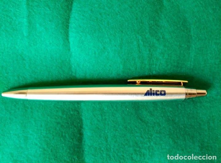 Bolígrafos antiguos: BOLIGRAFO INOXCROM SPAIN PUBLICIDAD DE SEGUROS ALICO - Foto 2 - 72201459