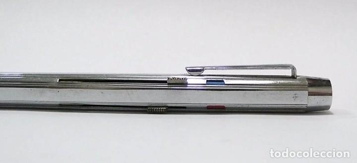 Bolígrafos antiguos: Bolígrafo en metal cromado mecanismo de cuatro colores - Foto 2 - 72934123