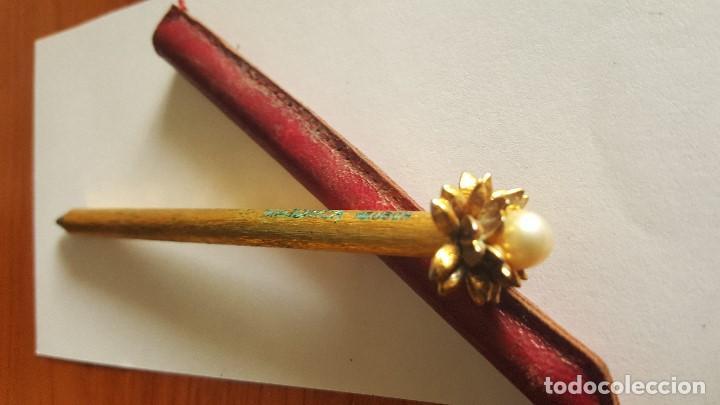 Bolígrafos antiguos: BOLIGRAFO CON PERLA MAJORICA - Foto 5 - 75999271