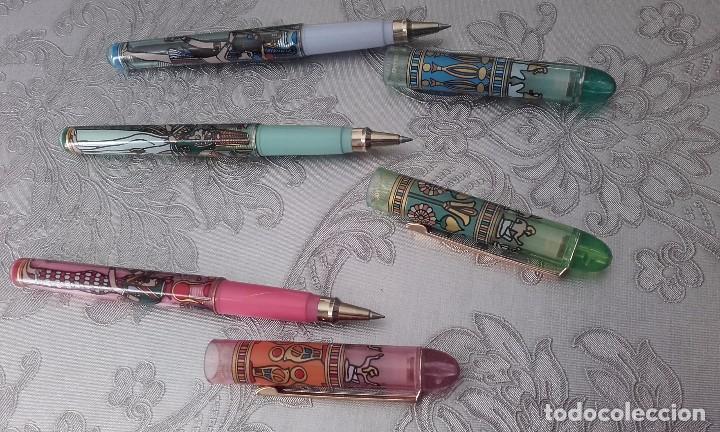 Bolígrafos antiguos: Micro ceramic pen modelo gippy de egipto esfinge - Foto 2 - 154948484
