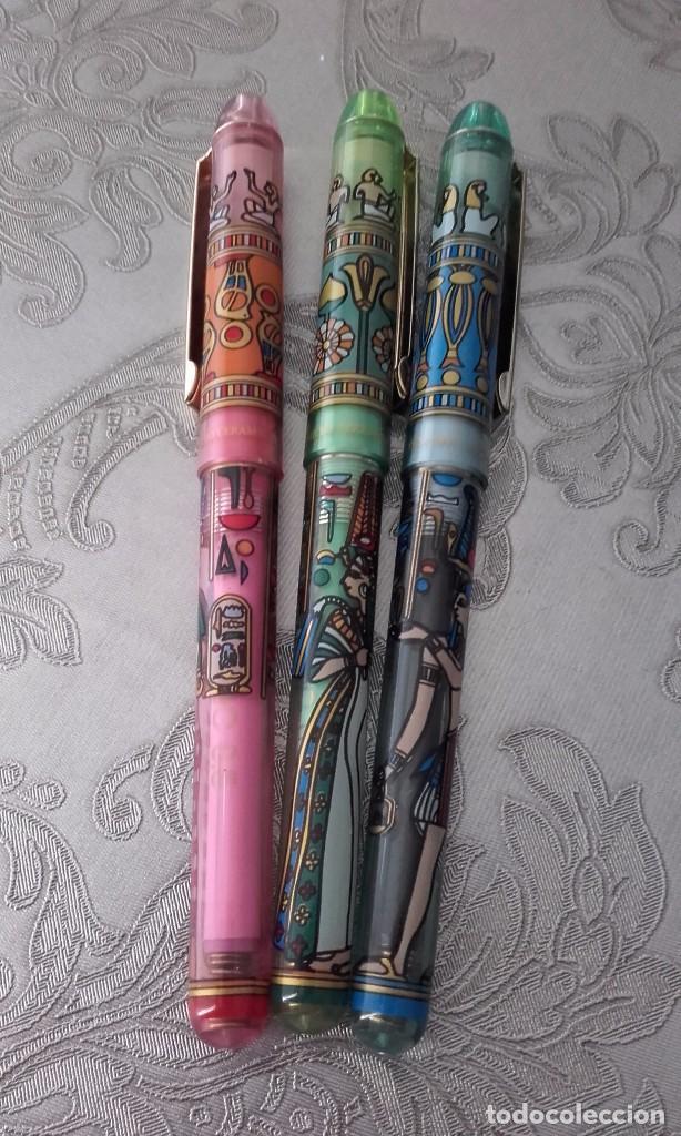 Bolígrafos antiguos: Micro ceramic pen modelo gippy de egipto esfinge - Foto 3 - 154948484