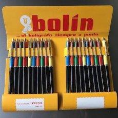 Penne a sfera antiche: PACK DE 20 BOLIGRAFOS BOLIN AÑOS 70/80. Lote 251108220