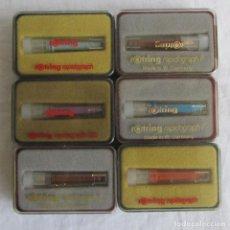 Bolígrafos antiguos: 6 PUNTAS DE ROTRING RADIOGRAPH. SIN USO. Lote 87251516