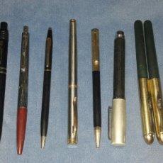 Bolígrafos antiguos: LOTE DE 8 BOLIGRAFOS ANTIGUOS 2 DE ELLOS NO TIENEN MINA. Lote 89785320