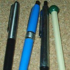 Bolígrafos antiguos: BOLIGRAFOS ORIGINALES ANTIGUOS, LOTE DE 4, AÑOS 60/70, OCASIÓN ¡¡ IMPORTANTE LEER ENVIO. Lote 91351095
