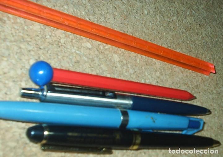 Bolígrafos antiguos: BOLIGRAFOS ORIGINALES ANTIGUOS, LOTE DE 4 Y UNA REGLA, AÑOS 60/70, OCASIÓN ¡¡ - Foto 2 - 91351580
