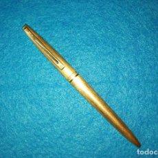Bolígrafos antiguos: BOLIGRAFO WATERMAN PLAQUE ORO AÑOS 70. Lote 95417519