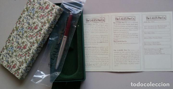 Bolígrafos antiguos: Bolígrafo Lalex 1938 en plata de ley Y con su certificado de autenticidad - Foto 2 - 95779031