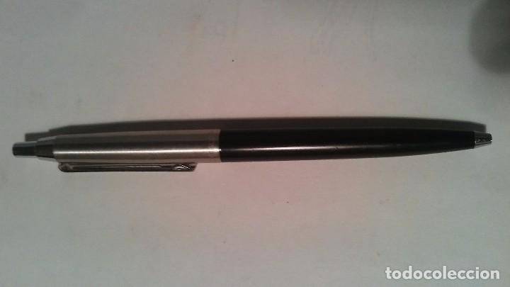 Bolígrafos antiguos: Bolígrafo Inoxcrom con publicidad de Hijos F. Herrera. CAPACHOS - JODAR - Foto 3 - 104105455