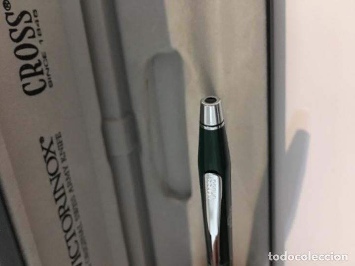 Alte Kugelschreiber: Bolígrafo Cross regalo de empresa Victorinox en lacado verde oliva para estrenar muy escaso para col - Foto 9 - 147028766