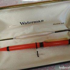 Bolígrafos antiguos: BOLÍGRAFO Y CAJA WATERMAN PLUME OR. Lote 105879071