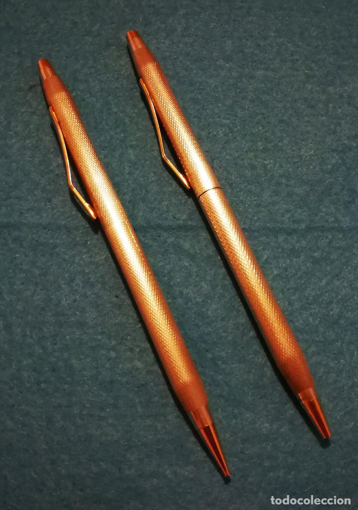 Bolígrafos antiguos: CONJUNTO DE BOLIGRAFO Y PORTAMINAS SUPER T 100 PLATA DE LEY * - Foto 2 - 106384763