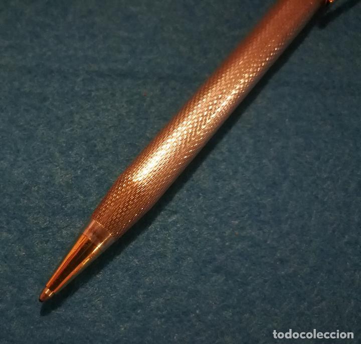 Bolígrafos antiguos: CONJUNTO DE BOLIGRAFO Y PORTAMINAS SUPER T 100 PLATA DE LEY * - Foto 6 - 106384763