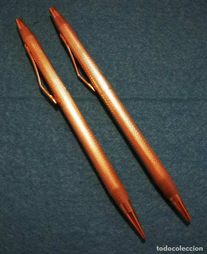 Bolígrafos antiguos: CONJUNTO DE BOLIGRAFO Y PORTAMINAS SUPER T 100 PLATA DE LEY * - Foto 8 - 106384763