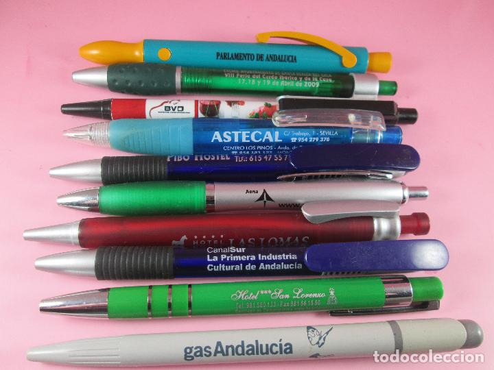 Bolígrafos antiguos: lote 10 bolígrafos-publicidad diversa-la mayoría de andalucía-buen estado-ver fotos - Foto 2 - 107048767