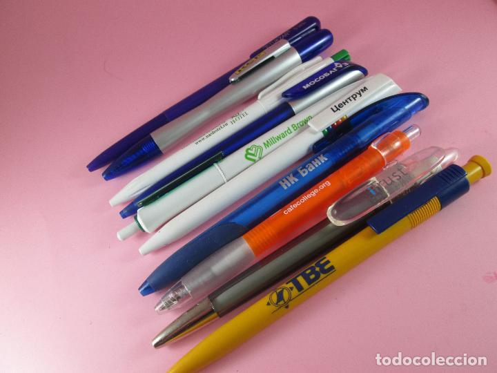 Bolígrafos antiguos: lote 10 bolígrafos-publicidad extranjera diversa-buen estado-ver fotos. - Foto 3 - 107535791