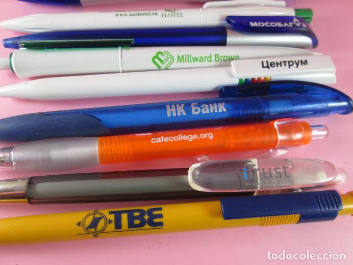 Bolígrafos antiguos: lote 10 bolígrafos-publicidad extranjera diversa-buen estado-ver fotos. - Foto 5 - 107535791
