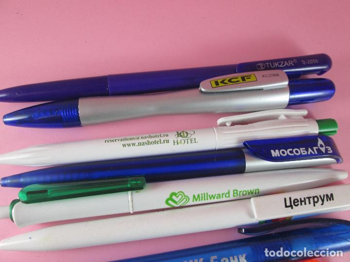 Bolígrafos antiguos: lote 10 bolígrafos-publicidad extranjera diversa-buen estado-ver fotos. - Foto 6 - 107535791