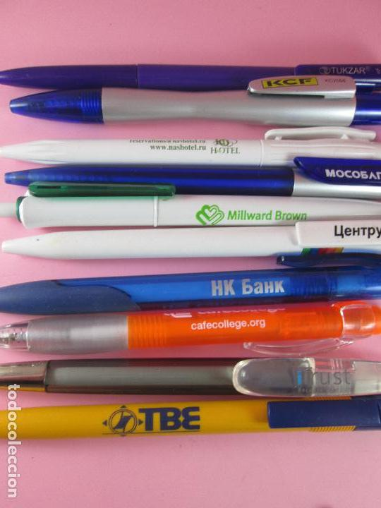Bolígrafos antiguos: lote 10 bolígrafos-publicidad extranjera diversa-buen estado-ver fotos. - Foto 7 - 107535791