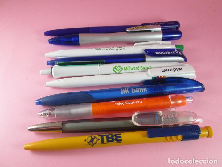 Bolígrafos antiguos: lote 10 bolígrafos-publicidad extranjera diversa-buen estado-ver fotos. - Foto 8 - 107535791