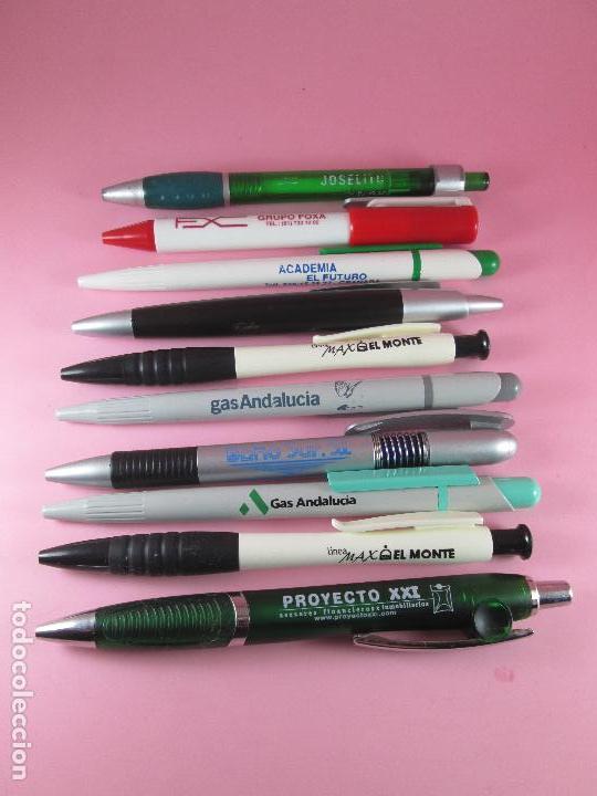Bolígrafos antiguos: 50-lote 10 bolígrafos-publicidad diversa-la mayoría de andalucía-ver fotos - Foto 4 - 107985427