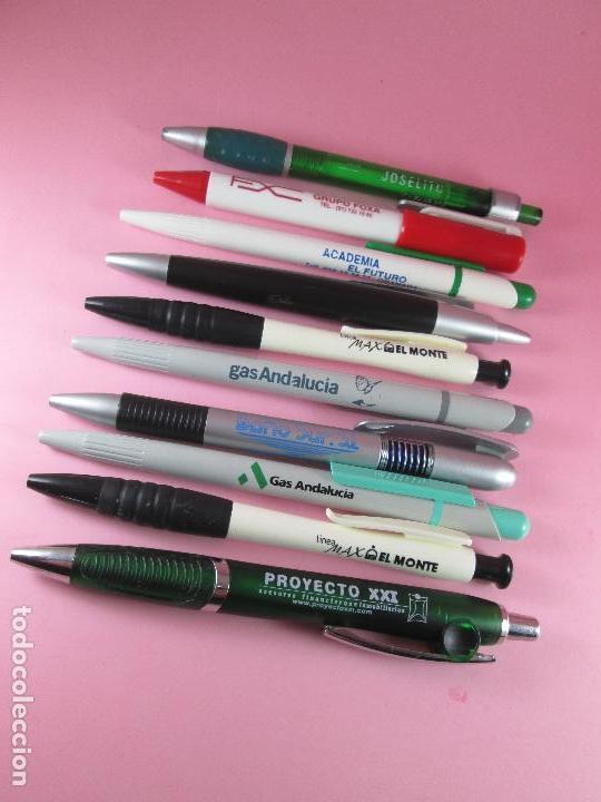 Bolígrafos antiguos: 50-lote 10 bolígrafos-publicidad diversa-la mayoría de andalucía-ver fotos - Foto 5 - 107985427