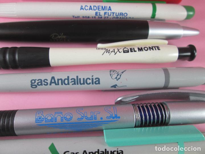 Bolígrafos antiguos: 50-lote 10 bolígrafos-publicidad diversa-la mayoría de andalucía-ver fotos - Foto 8 - 107985427