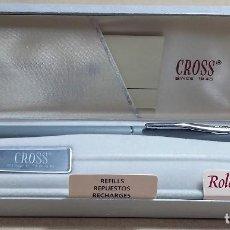 Bolígrafos antiguos: BOLIGRAFO CROSS GRAY 2105. SELECT TIP ROLLING BALL PEN. CAJA ORIGINAL. AÑOS 80. NUEVO.CCAVENDE. Lote 109040655