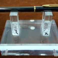 Bolígrafos antiguos: BOLIGRAFO WATERMAN. MADE IN FRANCE. METAL LACADO EN NEGRO. CIRCA 1970. . Lote 112320487