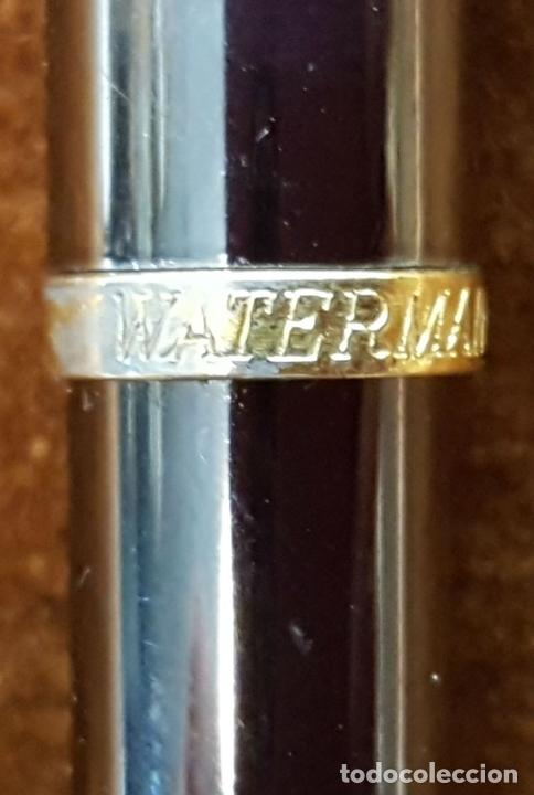 Bolígrafos antiguos: BOLIGRAFO WATERMAN. MADE IN FRANCE. METAL LACADO EN NEGRO. CIRCA 1970. - Foto 2 - 112320487