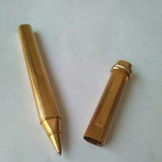 Bolígrafos antiguos: CARTIER-MUST DE CARTIER EN 20M DE ORO MADE IN FRANCE. Lote 112730731