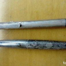 Bolígrafos antiguos: 2 BOLÍGRAFOS, UNO ALFRED DUNHILL OTRO DE PLATA . Lote 114193947