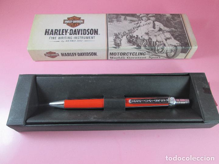 Bolígrafos antiguos: 1013-BOLIGRAFO-HARLEY DAVIDSON BY RETRO 1951-BLACK/ORANGR-CAJA-NUEVO-. - Foto 4 - 43810148