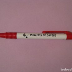 Bolígrafos antiguos: BOLÍGRAFO DE PLÁSTICO. DONACIÓN DE SANGRE. . Lote 115736827