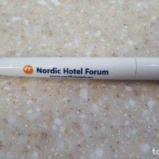 Bolígrafos antiguos: BOLIGRAFO DEL NORDIC HOTEL FORUM DE TALLINN - ESTONIA. Lote 116453311