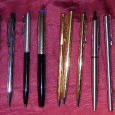 Bolígrafos antiguos: LOTE DE 13 BOLIGRAFOS Y ROTULADORES PARKER, SHEAFFER´S, WATERMAN , KAWECO, ANSON, INOXCROM.... Lote 117270023