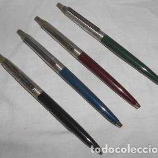 Bolígrafos antiguos: LOTE DE 4 BOLÍGRAFOS INOXCROM PARA PIEZAS. Lote 119370051