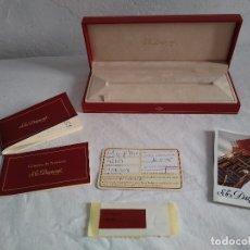 Bolígrafos antiguos: CAJA Y DOCUMENTACIÓN BOLÍGRAFO PLATA S.G.DUPONT PARÍS.. Lote 118480920