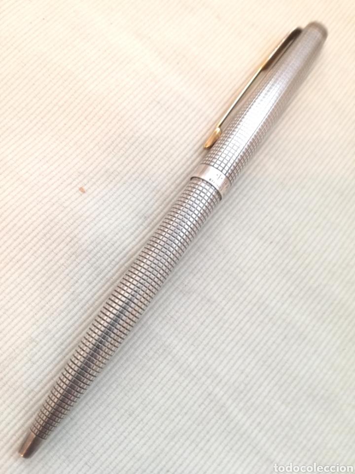 Bolígrafos antiguos: Bolígrafo Parker Plata Años 60. - Foto 7 - 120821243